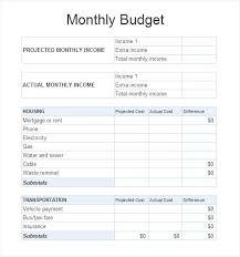 Sample Budget Worksheet Budget Worksheet Excel Family