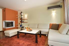 Incorporating A Little Orange Into The Living Room Can Give A Nice And  Sleek Contrast To Awesome Design