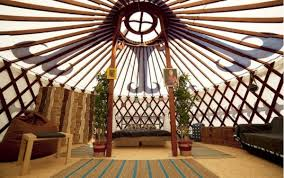 Painted 6m Yurt Hire Luxury Yurts For Hire ...