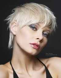 Bed Hair Style short bed head hairstyle for platinum blonde hair 7119 by wearticles.com