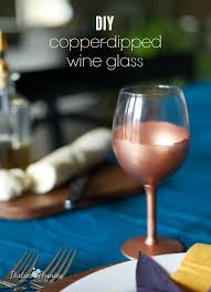 copper dipped wine glass partiesforpennies com for occasions entertaining copper