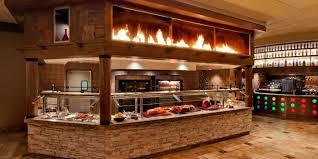 photo of carving station and bar at village buffet at rio las vegas