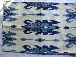 blue ikat rug light