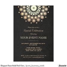 Elegant Invitation Cards Elegant Gold Mandala Black Formal Invitation Zazzle Com In