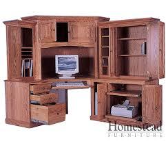 corner armoire computer desk best of amish made hardwood desks