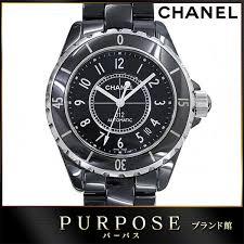 purpose inc rakuten global market chanel chanel j12 mens watch chanel chanel j12 mens watch h0685 38 mm ceramic black black automatic self winding rakuten card division