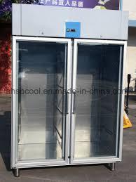 1400l stainless steel fridge freezer reach in refrigerator with glass door
