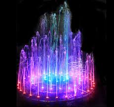 Water park music fountain color changing water fountain