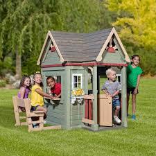 backyard discovery victorian inn cedar playhouse 2 10 years