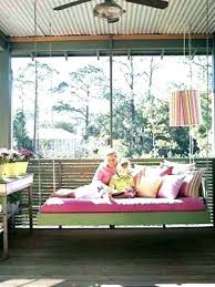 floating outdoor bed outdoor floating bed hanging outside bed hanging porch swing bed swinging daybed home