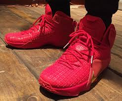 lebron red shoes. nike stays on the all-red sneaker path. lebron red shoes e