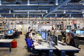 Temporary office space minneapolis Concept Coworking Promoting Collaboration Among Employees Working On Multiple Projects At Once Was One Goal Of Architecture Firm Pinterest Dont Get Too Used To Your Own Desk Wsj