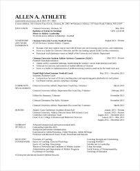 Athlete Student Resume