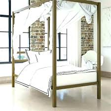 White Canopy Bed Full Size Metal Wood Cherry Twin – implair