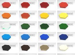 Acrylic Plexiglass Color Chart