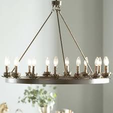 light wagon wheel chandelier diy three posts