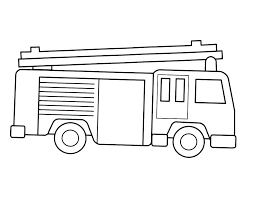 Fire Truck Color Page Rollingmotorsinfo