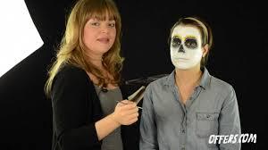sugar skull makeup tutorial for and día de los muertos