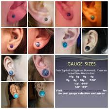 Ear Gauge Chart Size In Ears