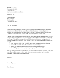Sample Cover Letters For Customer Service Positions 76 Images