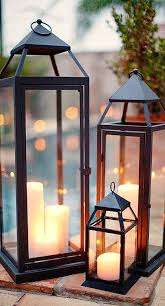 exterior candle lanterns. rehearsal dinner inspiration by elyse jennings weddings exterior candle lanterns y