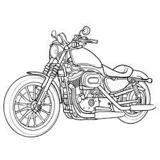 Kleurplaat Crossmotor Yamaha