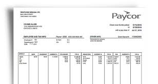 Pay Stub Example See Whats Included Paycor