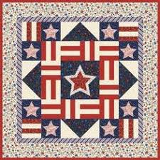Liberty Square Patriotic Quilt Kit, Stars & Stripes Stonehenge by ... & Quilt Inspiration: Free pattern day: Patriotic and flag quilts Adamdwight.com