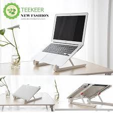 teekeer portable laptop stand foldable adjule notebook holder laptop stand for desk adjule portable cooling lightweight