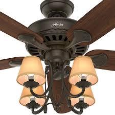 54 inch hunter fan cortland ceiling fan with light new bronze finish alt3
