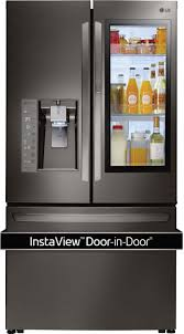LG Black Stainless Steel Counter-Depth French Door Refrigerator (24 ...