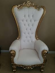chair high back chair high back baroque chair queen throne white w