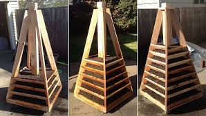 vertical pyramid garden planter diy 07