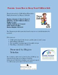parents learn how to keep your kid safe parent workshop flyer 2015