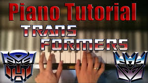 transformers sheet piano tutorial transformers g1 transition theme easy youtube