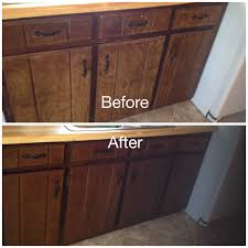 My Worn Kitchen Cabinets Stained With Minwax Gel Stain In Dark