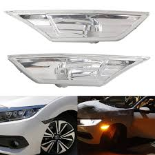 Front Side Marker Light Details About 2ps Front Side Marker Clear Lights For Honda Civic 2016 2018