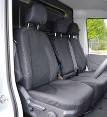 vw crafter 2017 heavy duty waterproof van seat covers genuine fitting in black