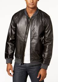 alfani men s perforated genuine leather jacket created for macy s