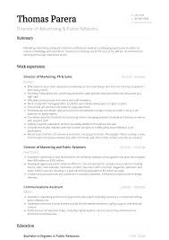 public relations resume example public relations resume samples and templates visualcv