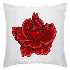 <b>Подушка Яркая</b> красная роза на белом фоне #2446845 в Москве ...