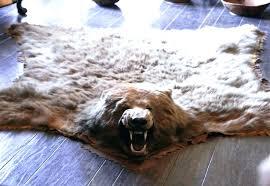 real polar bear rug faux bear skin rug with head lovely fake bear rug with head