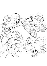 Charmante Kleurplaten Bloemen En Vlinders En Hartjes Krijg