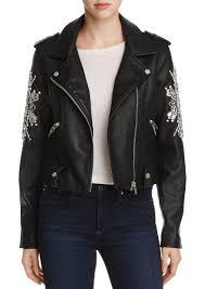 blanknyc crown jewels faux leather moto jacket