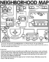 Neighborhood Map Coloring Page Crayolacom