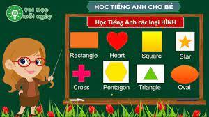 Vui học mỗi ngày - Dạy bé học tiếng anh về các loại hình / Tiếng Anh lớp 1  / Từ vựng tiếng anh - giasubachkhoa.net