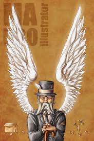 a very old man enormous wings by mauroillustrator on   mauroillustrator a very old man enormous wings by mauroillustrator