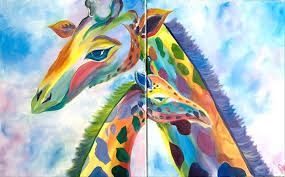 how to paint manic monday pastel giraffes for two 10 off