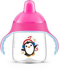 ≡ <b>Чашка</b>-непроливайка Avent с твердым носиком розовая <b>260</b> ...