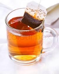 tea bag in cup.  Bag With Tea Bag In Cup